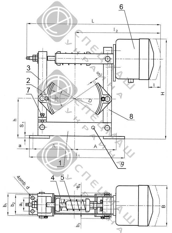 Тормоз-ТКП_Схема